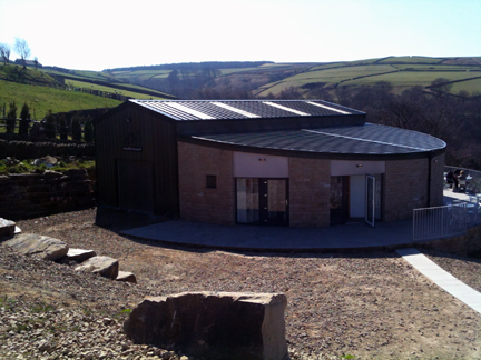 view of the Holmfirth Vineyard restaurant & sun terrace