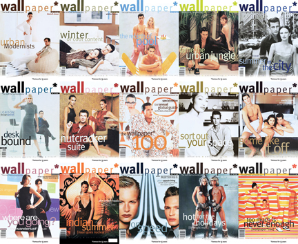 mosaic made from the covers of issues 1-15 of Wallpaper* Magazine
