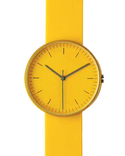 yellow '100 series' wristwatch by UniformWares