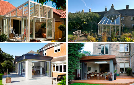 selection of four types of conservatory