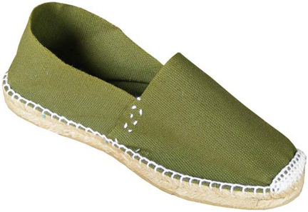 olive green espadrilles available from EspadrilleStore.eu