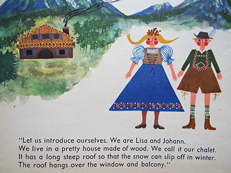 Dolls Lisa and Johann from the 'Austria' book from the World Dolls Series