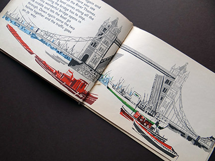 illustration of Tower Bridge from the World Dolls Series, England | H is for Home