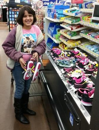 Rossina helping to buy more shoes