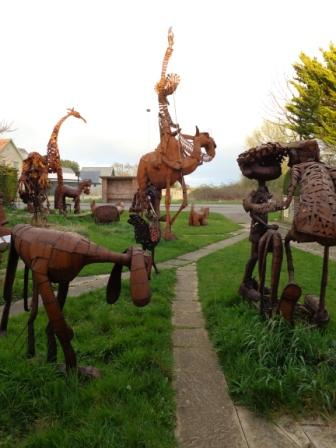 Tony Hillier's sculpture garden on Cottenham Road, Histon