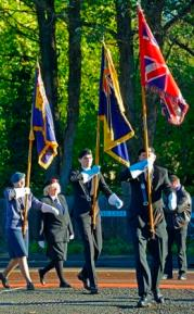British Legion flag bearers