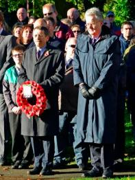 ready to lay the PC's wreath