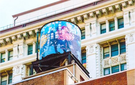Art Above NYC Water Tank Project