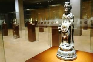 Horyu-ji Temple treasure gold copper Buddha, Tokyo National Museum