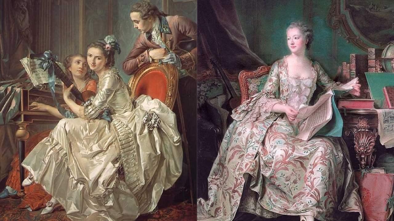 westliche mode-geschichte 1750-1775   hisour kunst kultur