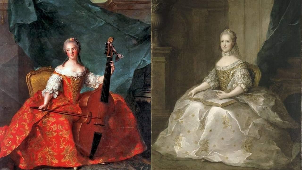 rokoko-mode von frauen in 1750-1775 – hisour kunst kultur