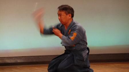 Otsuka Sensei lanzando