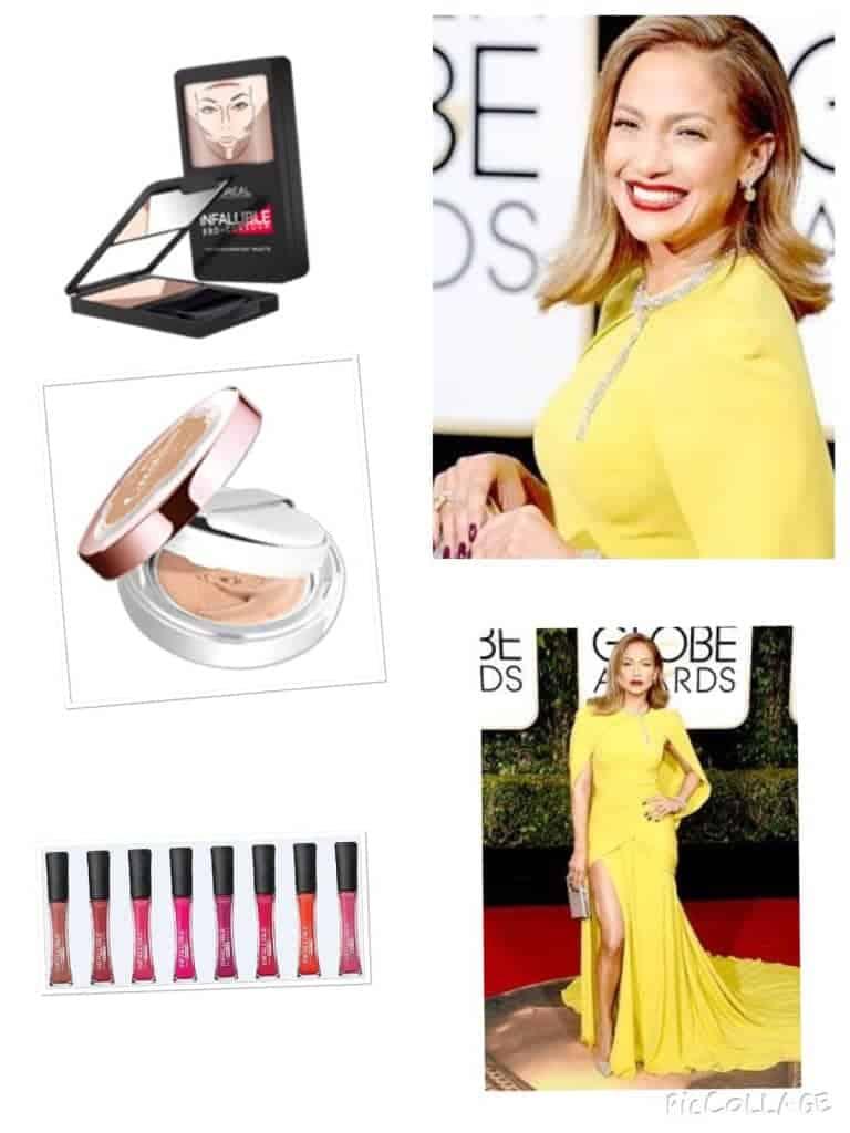 Jennifer Lopez 2016 Golden Globes look