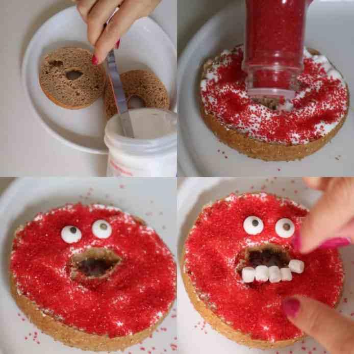 Monster bagel for Halloween