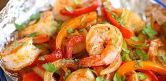 Shrimp Fajita Burrito Recipe