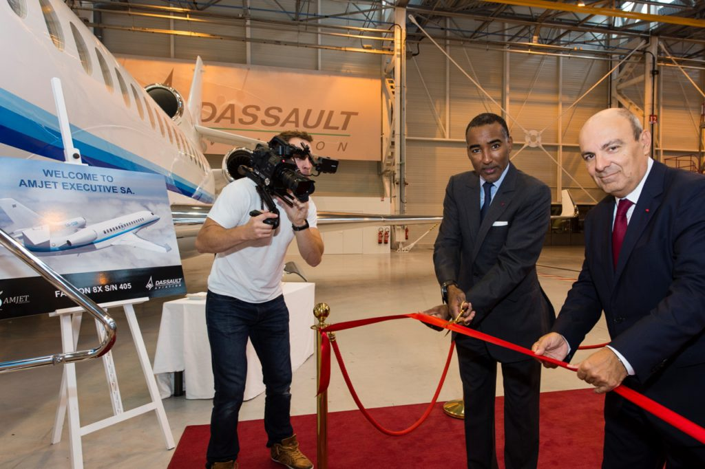 Eric Trappier, Chairman y CEO de Dassault Aviation durante el acto de entrega del avión. Foto: Dassault