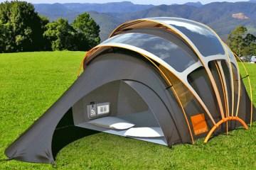 Orange's solar-powered tent.