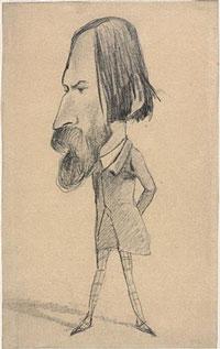 Caricature par Claude Monet