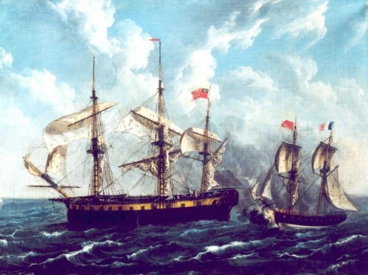 Combat naval. Musée du Vieux Granville