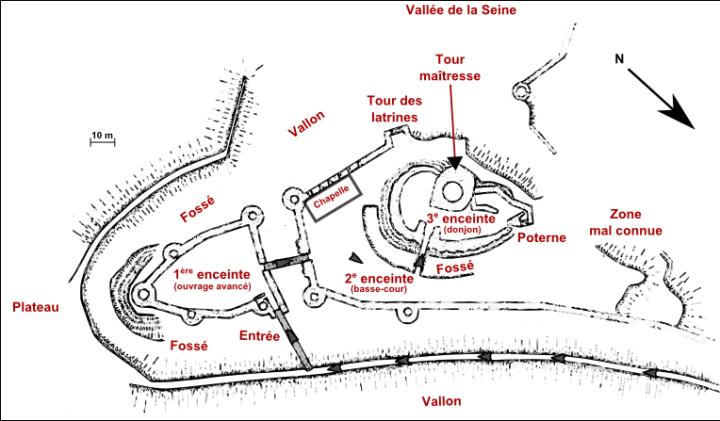 Plan de Château-Gaillard