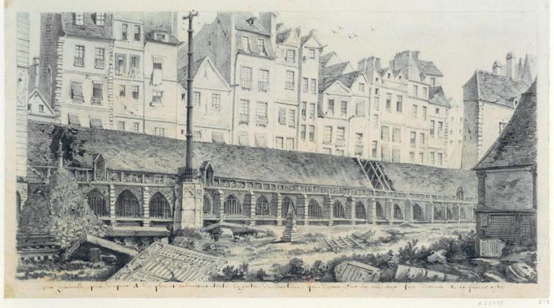 Le cimetière des innocents, au coeur du Paris au Moyen Age