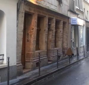 Vue de l'Auberge Nicolas Flamel rue de Montmorency - Paris 3e