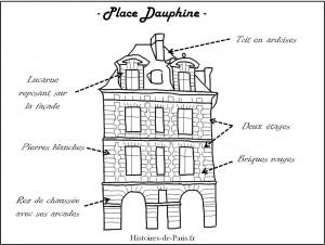 Facade de la place dauphine