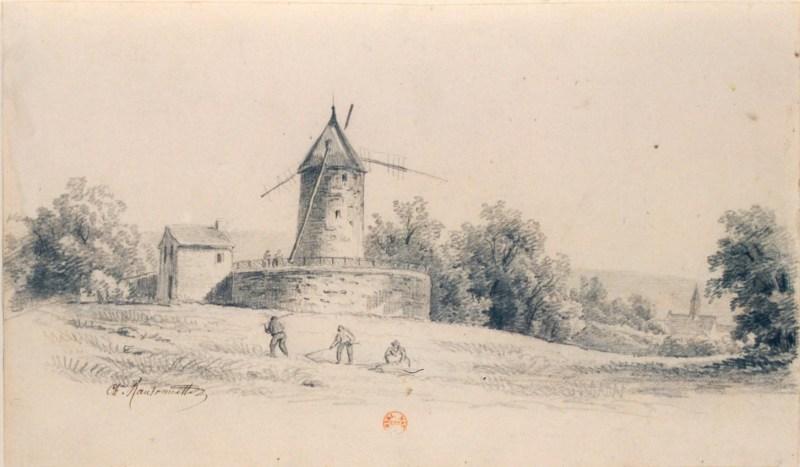 Le moulin de Longchamp en juillet 1847
