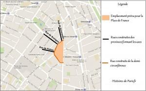 Emplacement prévu de la Place de France