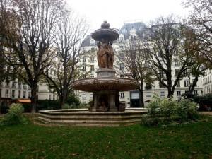Fontaine et le square Louvois