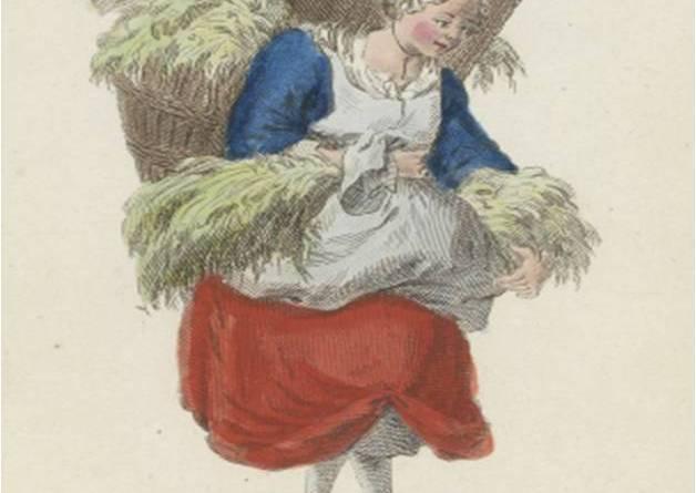 marchande d'herbe d'après Poiisson