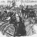Déchargement du vin à Bercy