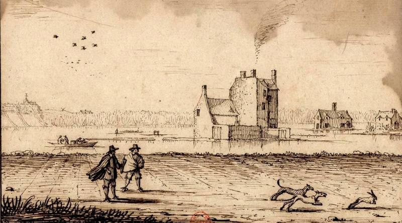 vue de Grenelle lors crue de 1658