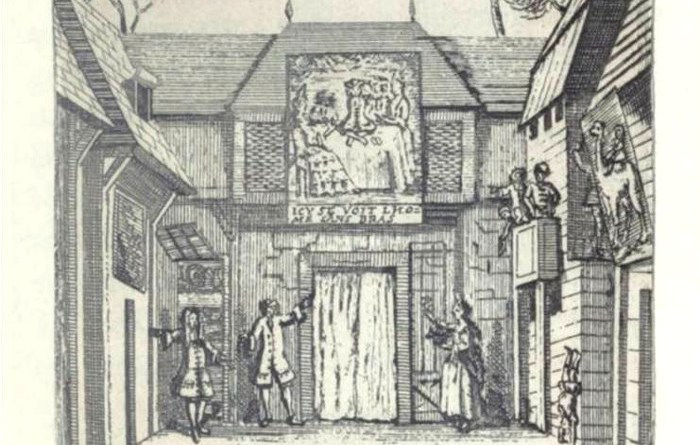 Spectacle de l'homme sans bras à la foire Saint Laurent en 1709