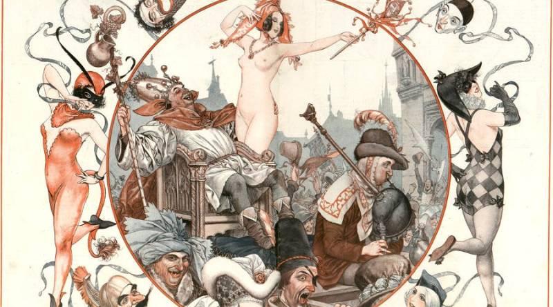Le fête de fous caricature par Chéri Hérouard