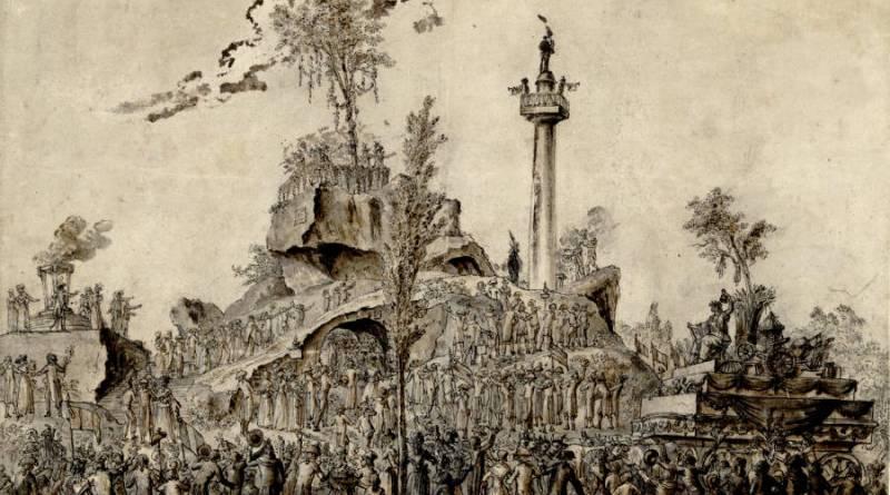 Montagne élevée au Champ de Mars pour la fête de l'être suprème