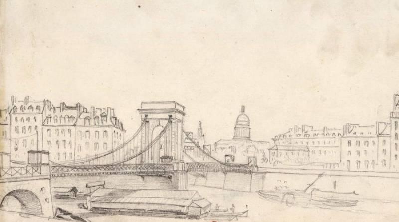 Pont suspendu de Louis Philippe en 1840