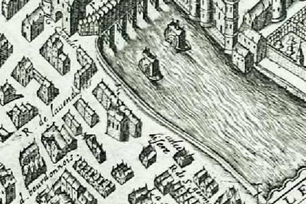 Saint Eloi des orfèvres extrait du plan de Vassalieu 1609