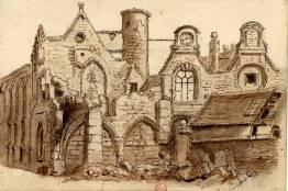 Saint Jacques de l'Hôpital pendant sa démolition par Denis Destours