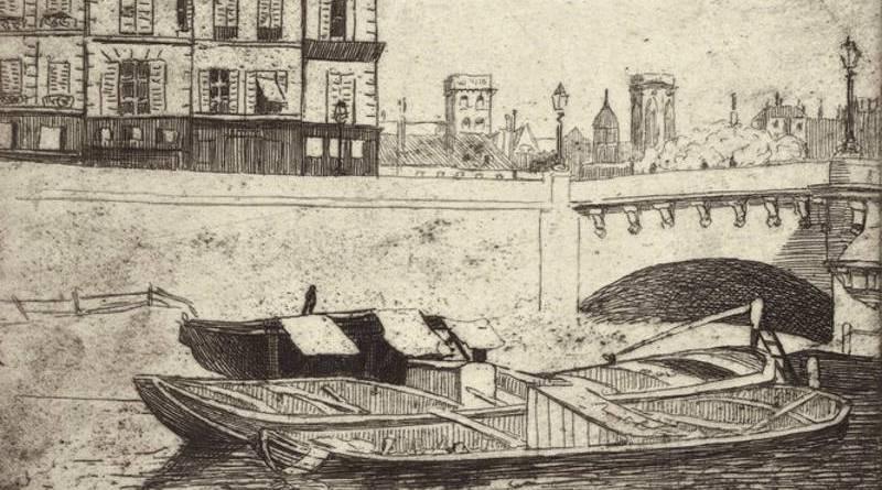 Péniche au pont neuf par Felix Vallotton