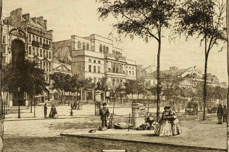 Le boulevard du Temple par Martial Potémont