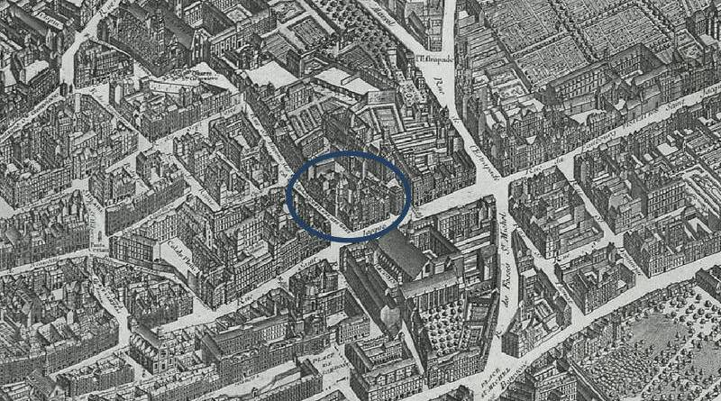 Saint Etienne des Grès extrait du plan de Turgot 1739