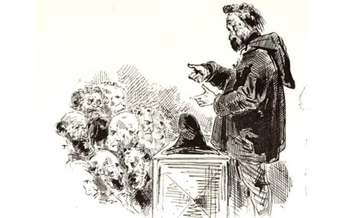 club d'artistes de 1848 par Gustave Doré