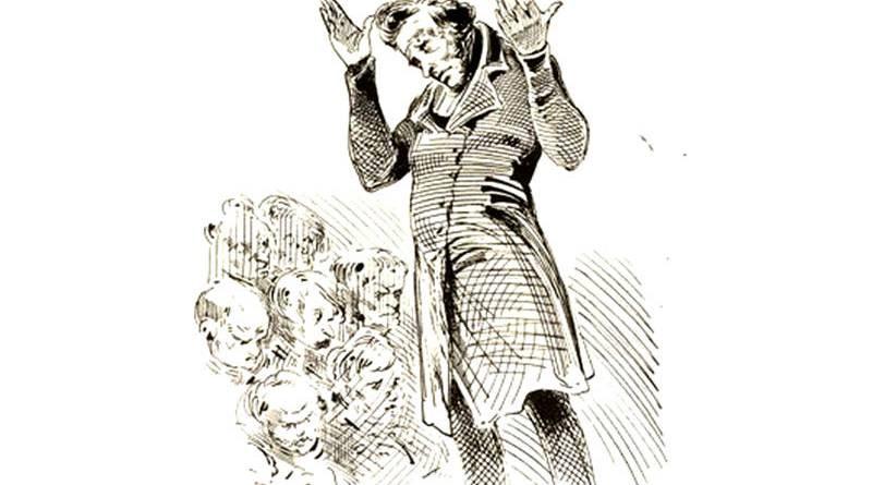 l'irritant - orateur des clubs par Gustave Doré
