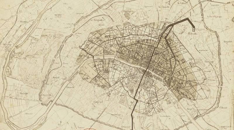 Conduites des eaux nouvelles à Paris par Lemercier