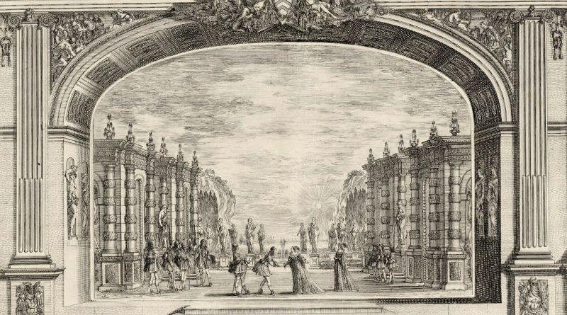 Ouverture de la grande salle théâtre du Palais Cardinal par Stefano Della Bella