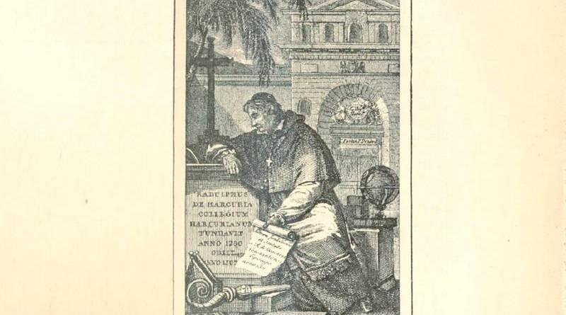 Les fondateurs du collège d'Harcourt - Robert d'Harcourt priant sur la tombe de son frère Raoul