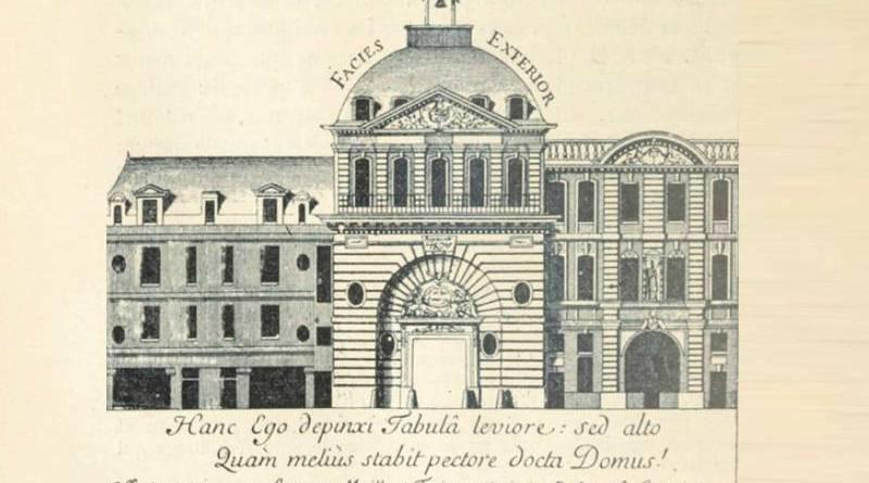 nouvelle facade du college d'Harcourt au XVIIe siècle