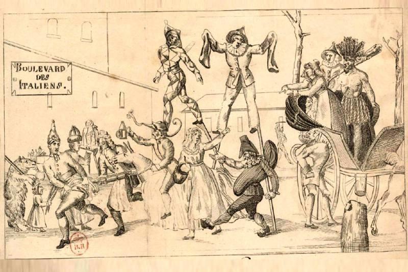 carnaval de Paris - illustration de catéchisme poissard