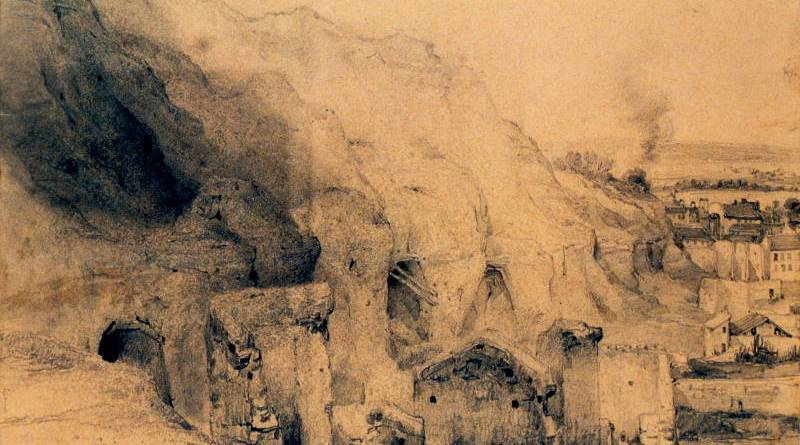 Carrières à l'Est de Montmartre par Louis Désiré Thiénon en 1832
